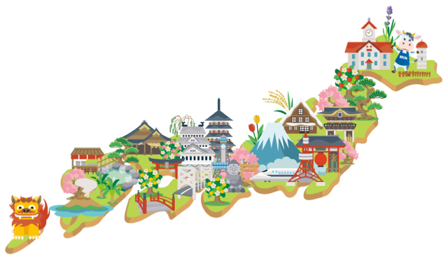 日本全国観光地イラスト